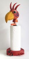 Pták červený - stojánek na papírové role